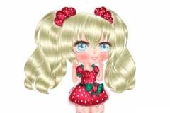 Here's the finished one. This is a strawberry girl according to Feiya.