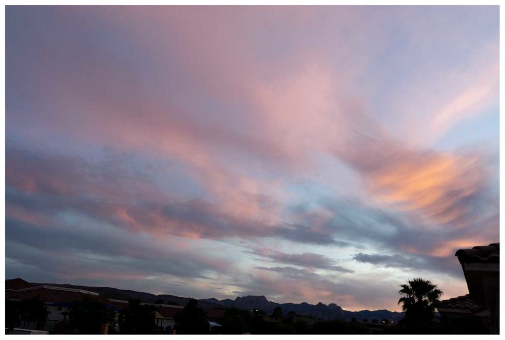 Summerlin sunset in Las Vegas, Nevada.