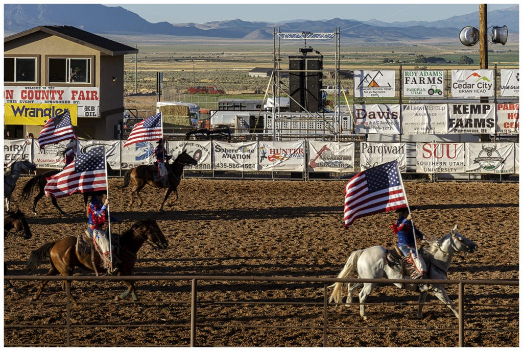 Iron County Fair PRCA Rodeo 2019 in Parowan, Utah.