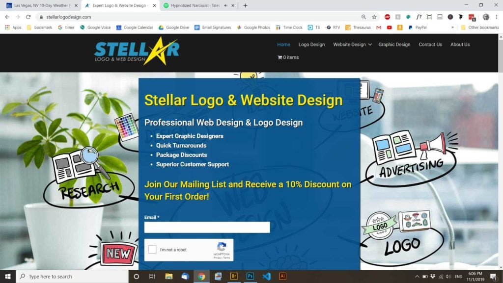 Stellar Logo Design- Logo design and web design.